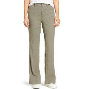NYDJ Wylie Five-Pocket Linen Trousers Olive 8